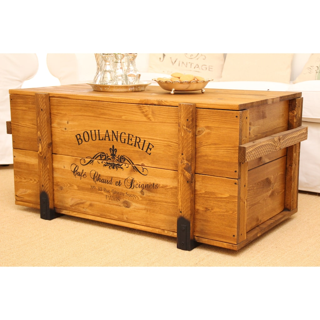 Uncle Joe´s Truhentisch »Boulangerie«, im Vintage-Look