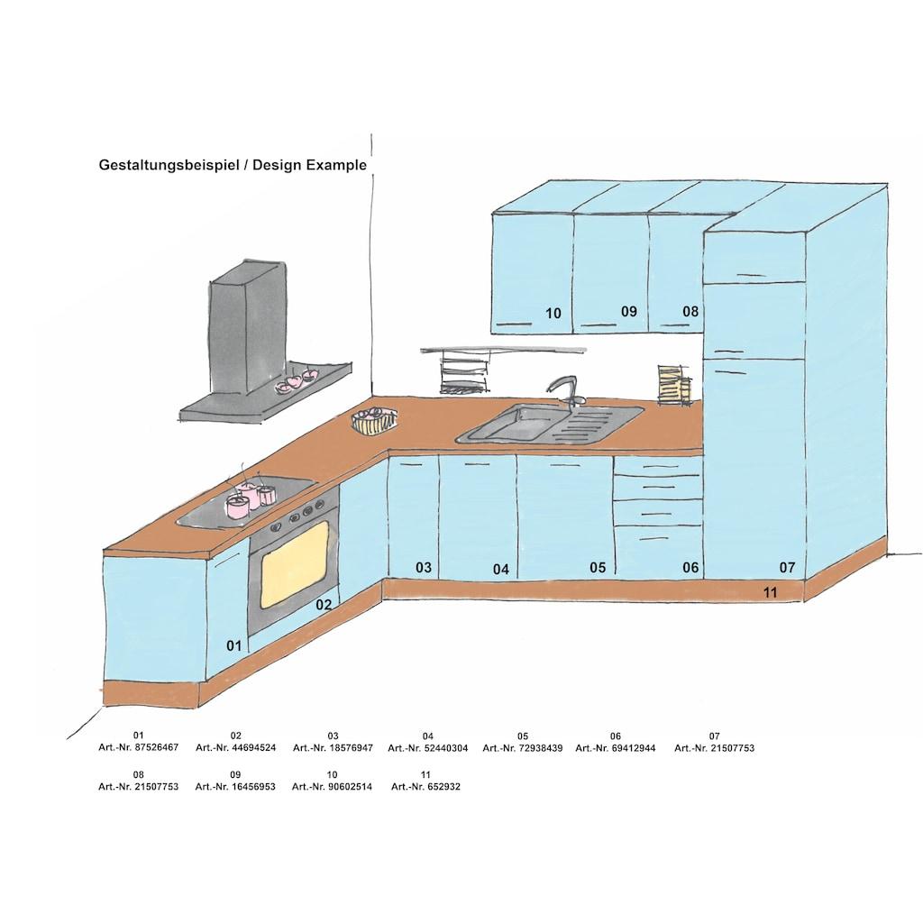 OPTIFIT Apothekerschrank »Cara«, mit 2 Vollauszügen und 5 Ablagen, Soft-Close-Funktion und höhenverstellbaren Stellfüßen, Breite 30 cm