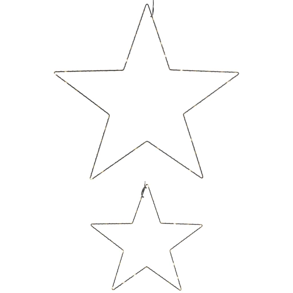 Leonique LED Stern »Drahtstern«, Ø 30 cm + 50 cm, mit Timer