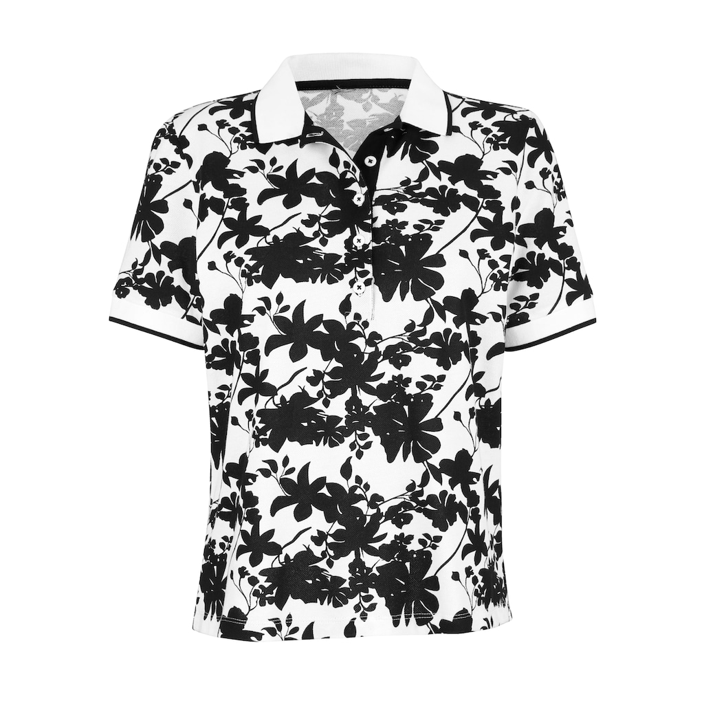Amy Vermont Poloshirt, mit floralem Muster allover