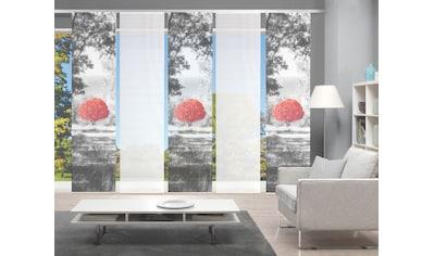 Vision Schiebegardine »AMENO 5er SET«, Bambus-Optik, Digital bedruckt kaufen