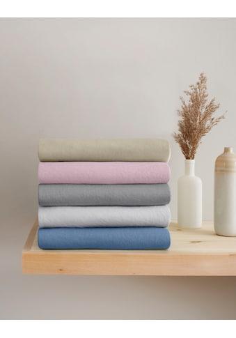 OTTO products Spannbettlaken »Jannis«, Mako-Jersey aus zertifizierter Bio-Baumwolle mit Elasthan kaufen