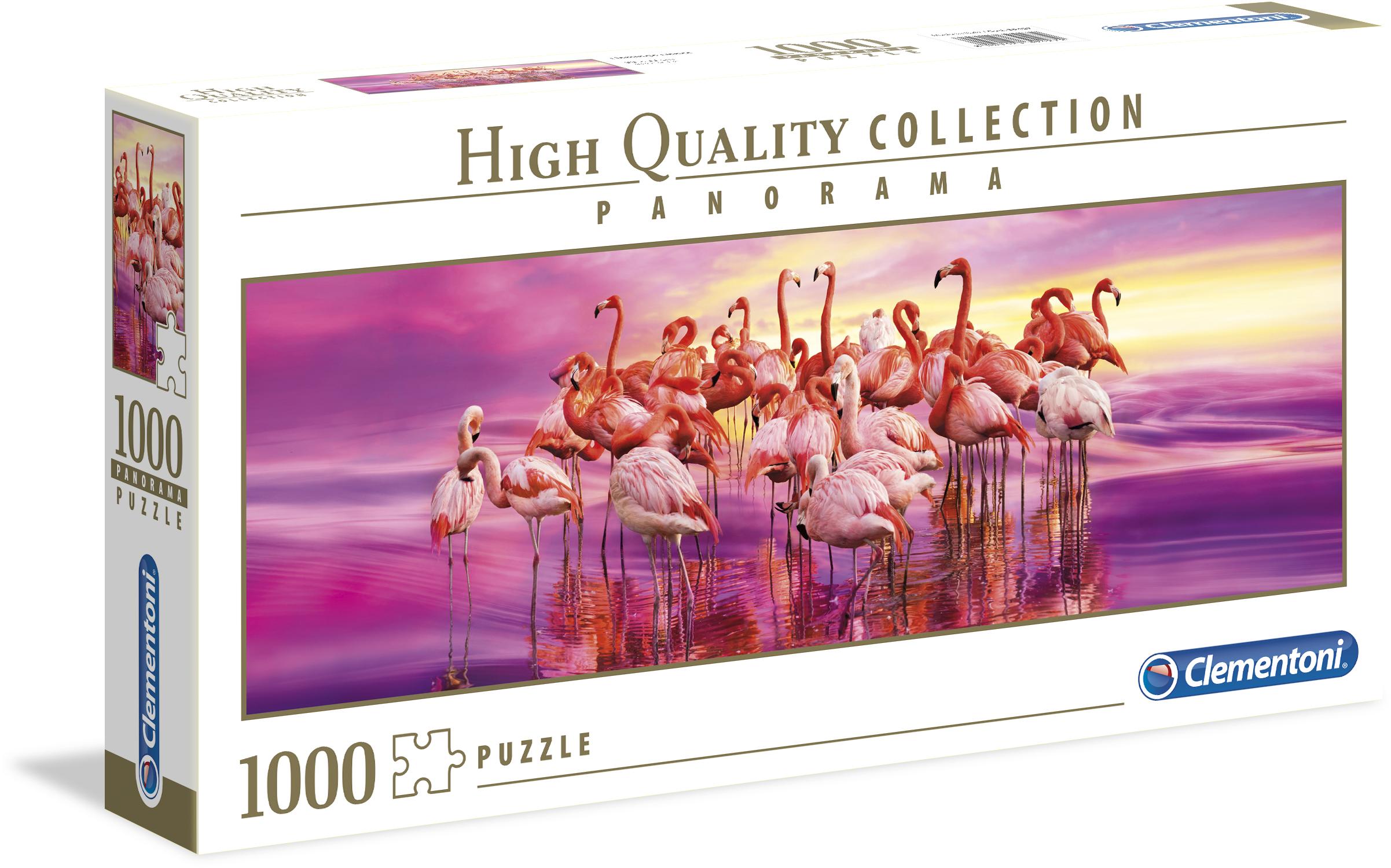 Clementoni Puzzle Tanz der Flamingos, Made in Europe rosa Kinder Ab 9-11 Jahren Altersempfehlung Puzzles