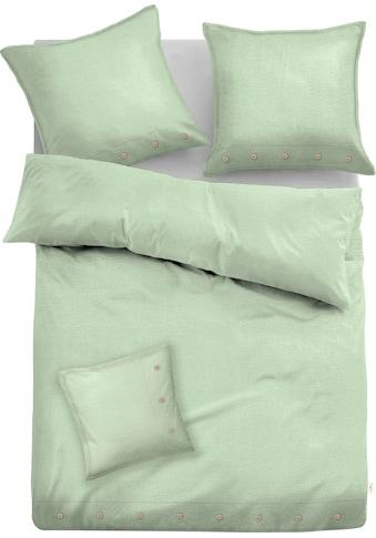TOM TAILOR Bettwäsche »Alisa«, aus Leinen und Bio-Baumwolle mit Zusatzkissen 40x40 cm kaufen
