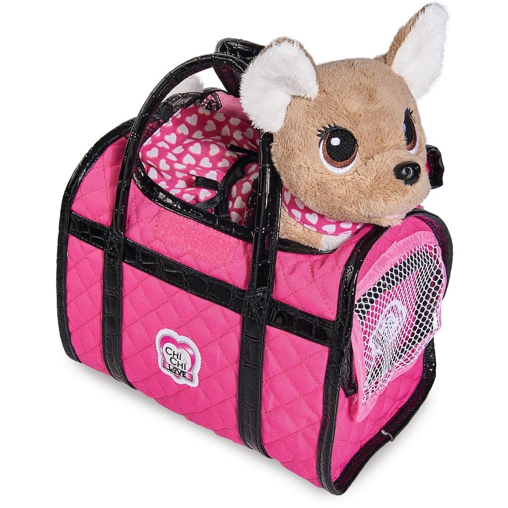 SIMBA Kuscheltier »Chi Chi Love, Chihuahua Plüschhund Paris II«, mit Tasche