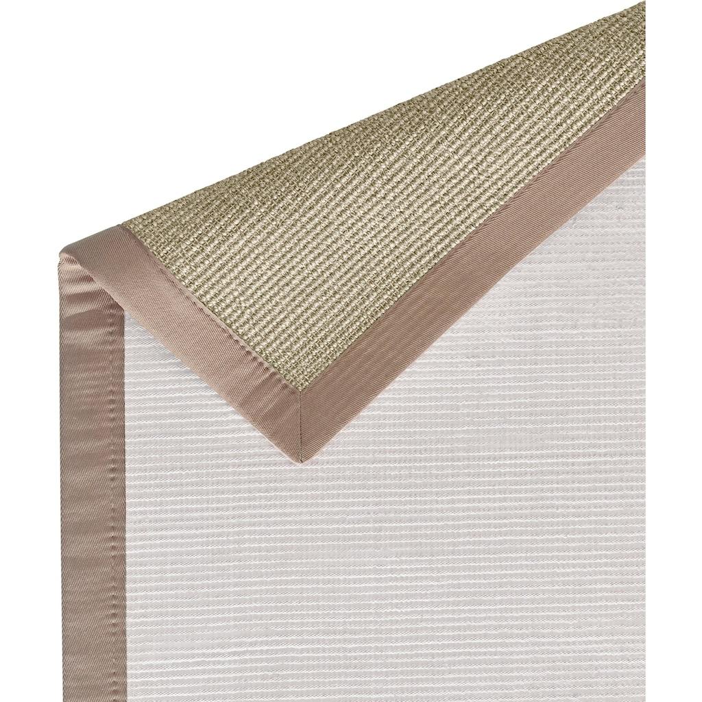 Dekowe Sisalteppich »Mara S2 mit Bordüre«, rechteckig, 5 mm Höhe, Flachgewebe, Obermaterial: 100% Sisal, Wunschmaß, Wohnzimmer