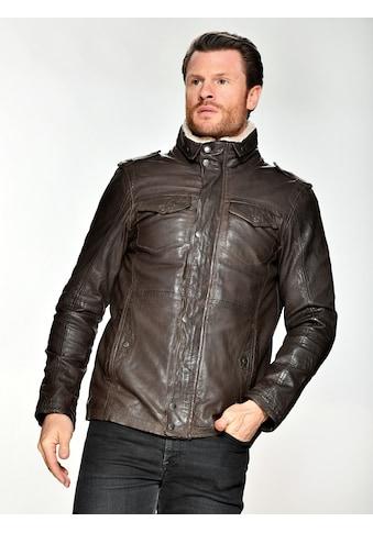 MUSTANG Lederjacke mit Schulterklappe kaufen