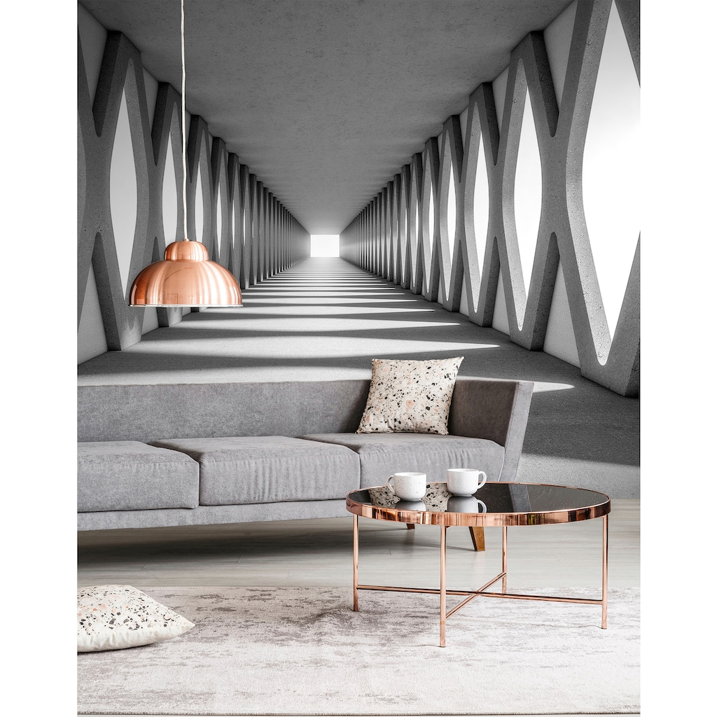 living walls Fototapete »Designwalls Grey Aisle«