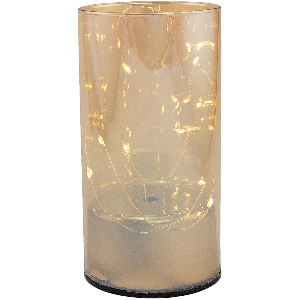 Dekolicht, Neutralweiß, aus Glas, mit 10 LEDs, Höhe ca. 15 cm