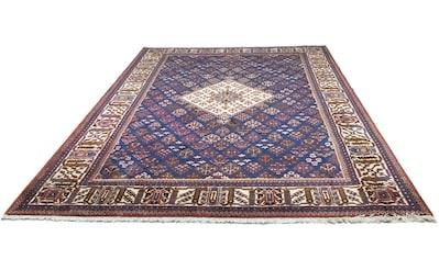 morgenland Wollteppich »Malayer Teppich handgeknüpft blau«, rechteckig, 12 mm Höhe kaufen