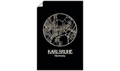 Artland Wandbild »Retro Karte Karlsruhe Deutschland Kreis«, Deutschland, (1 St.), in... kaufen
