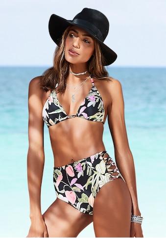 s.Oliver Highwaist-Bikini-Hose »Herbst«, mit seitlichen Zierbändern kaufen