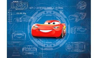 KOMAR Set: Fototapete »Cars3 Blueprint«, Ausgezeichnet lichtbeständig kaufen