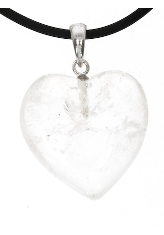Adelia´s Kettenanhänger »Bergkristall Anhänger Herz 925 Silber transparent«,... kaufen