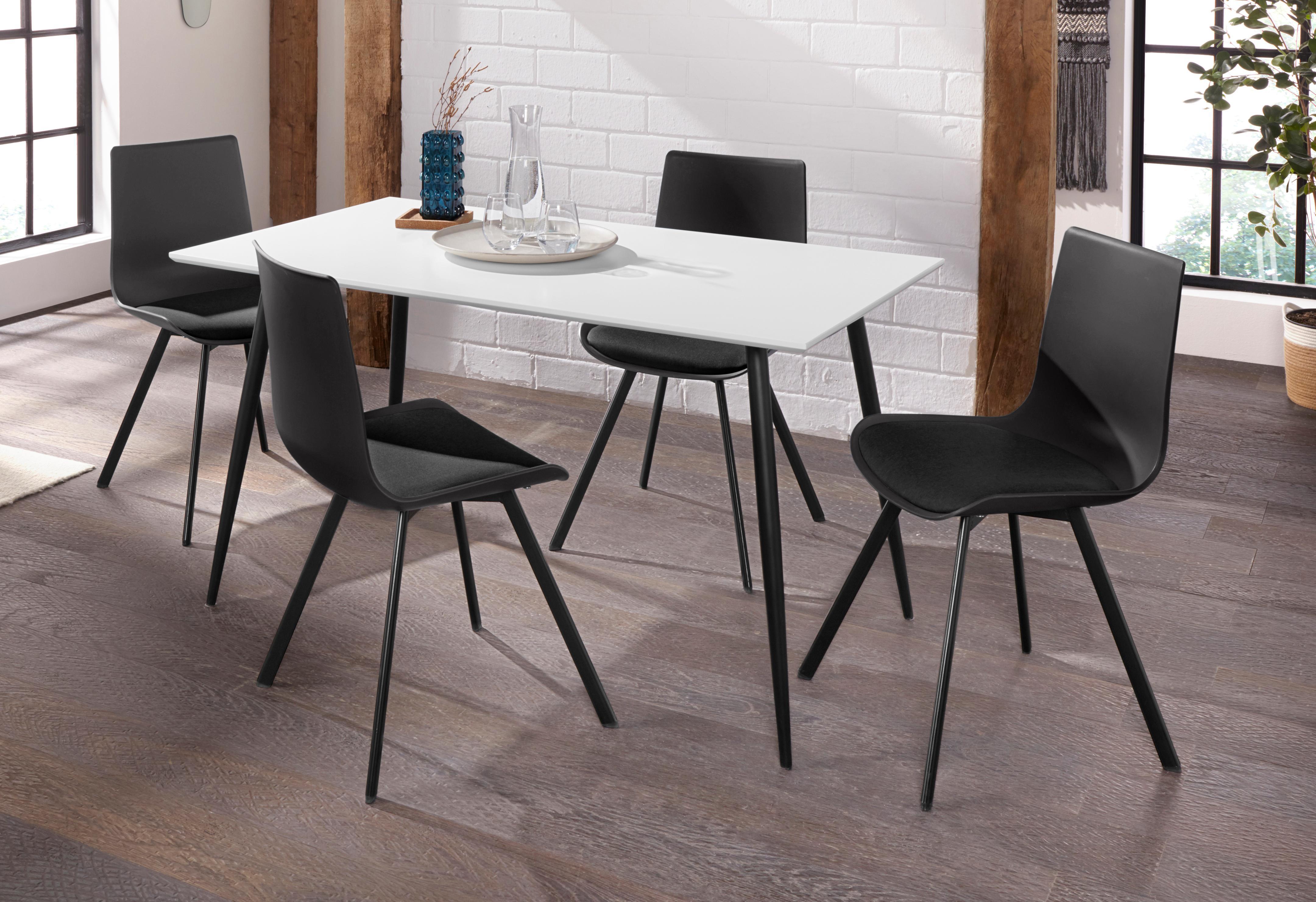 Essgruppe Dino 1 - Lucky mit Esstisch Breite 140 cm und 4 Stühlen