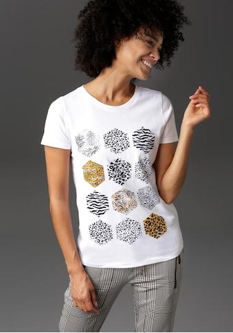 Aniston CASUAL T-Shirt, mit verschiedenen Animal-Prints bedruckt - NEUE KOLLEKTION kaufen