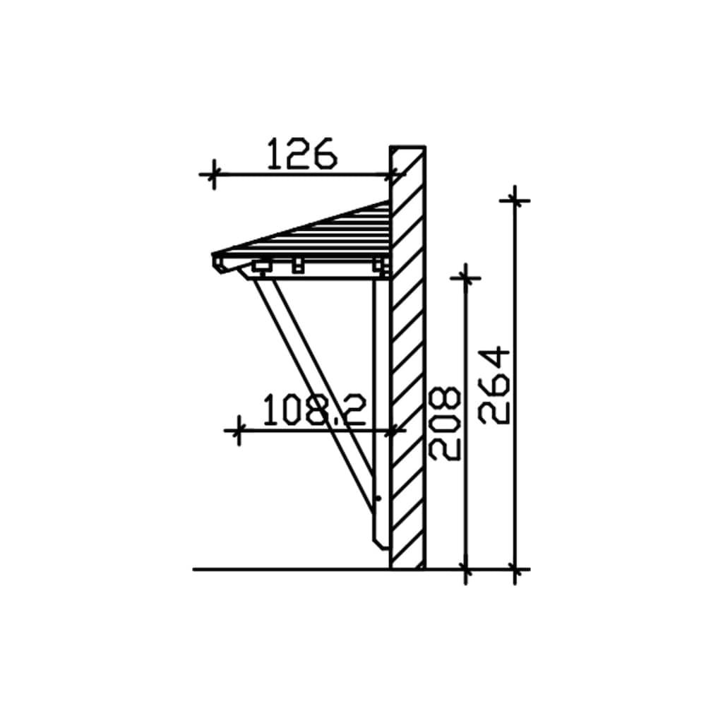 Skanholz Vordach »Wismar 2«, BxTxH: 258x126x264 cm