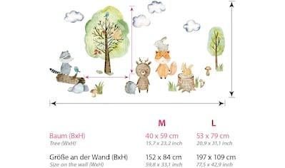 little DECO Wandtattoo »Little Deco Wandtattoo Waldtiere mit Bäume Pilze und Gras« kaufen