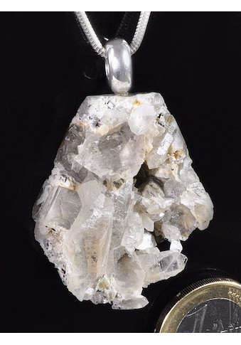 Adelia´s Kettenanhänger »Damen Schmuck Edelstein Bergkristall Anhänger 925 Silber bunt« kaufen