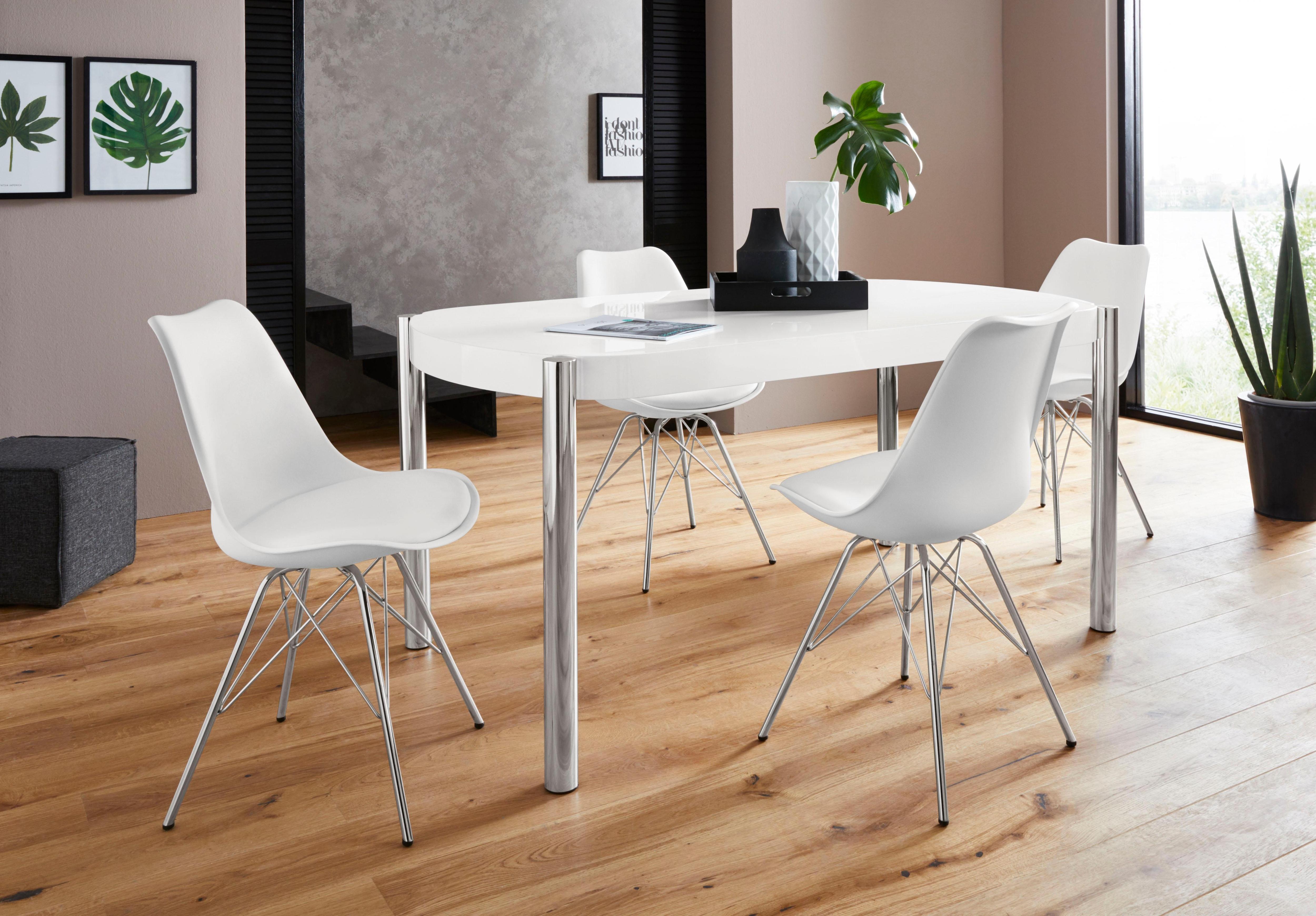 Homexperts Essgruppe Hannes2-Ursel (Set 5-tlg)   Küche und Esszimmer > Essgruppen > Essgruppen   Weiß   Kunstleder - Holzwerkstoff   Homexperts