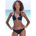 LASCANA Triangel-Bikini-Top »Scallop«, mit gelaserter Wellenkannte