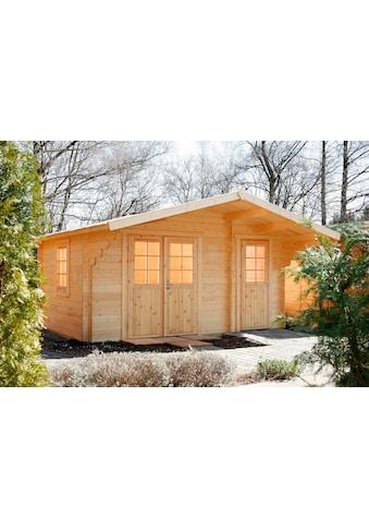 WOLFF FINNHAUS Gartenhaus »Caro 34 Klassik XL«, BxT: 486x460 cm, inkl. Fußboden, mit 2 Räumen kaufen
