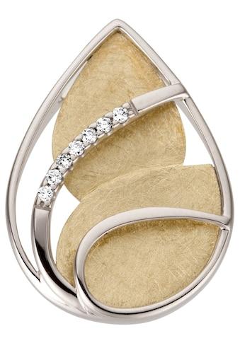 JOBO Kettenanhänger, 585 Gold bicolor mit 7 Diamanten kaufen