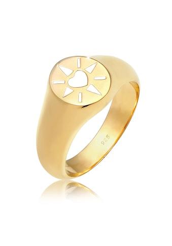 Elli Fingerring »Siegelring Herz Emaille 925er Silber« kaufen