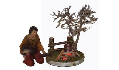Alfred Kolbe Krippen-Zubehör »Lagerfeuer mit Beleuchtung und Figur Hirte am Feuer« kaufen