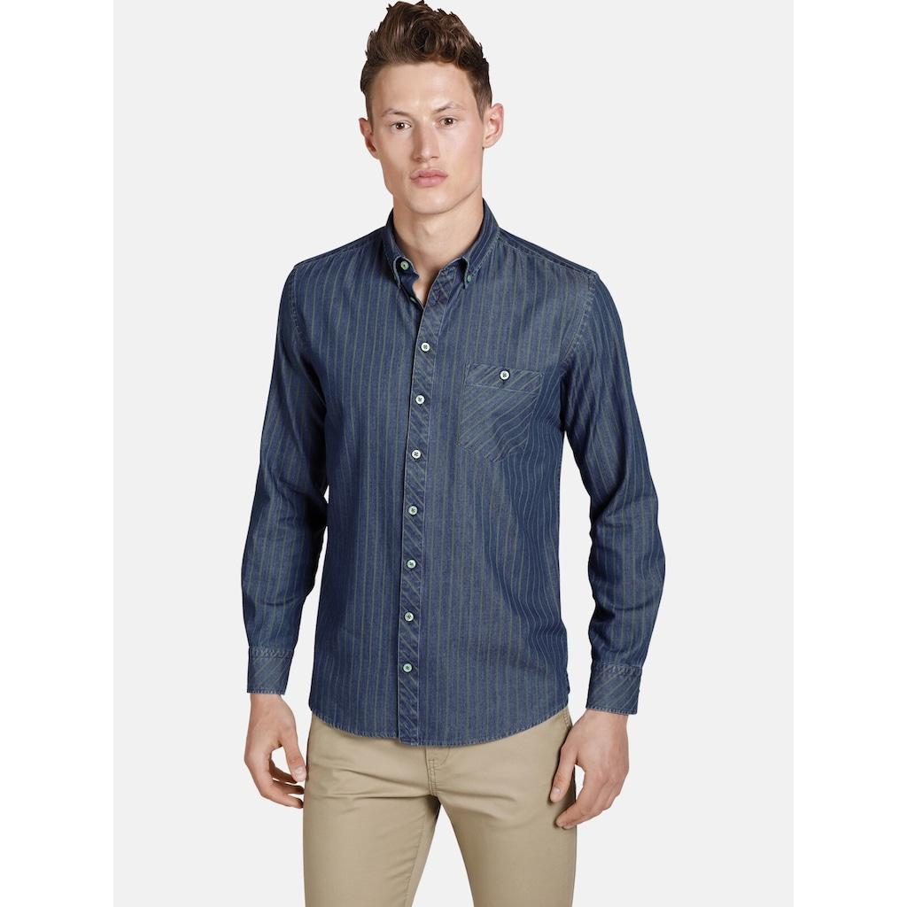 SHIRTMASTER Jeanshemd »greenwaters«, Baumwollhemd in Jeans Optik