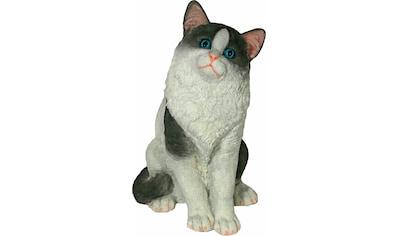 Home affaire Tierfigur »Katze sitzend, schwarz - weiß, Höhe: 38cm« kaufen
