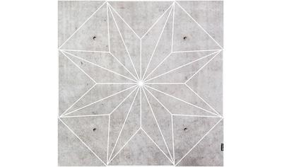MySpotti Vinylteppich »Concrete Star«, quadratisch, 0 mm Höhe, eckig, wasserfest und statisch haftend kaufen