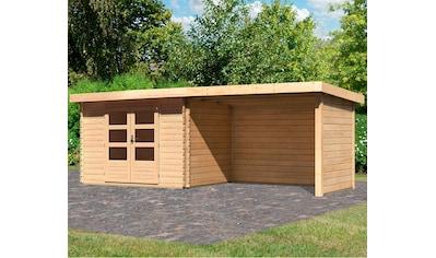 KONIFERA Set: Gartenhaus »Schloßsee 3«, BxT: 614x273 cm, mit Anbau inkl. Seiten -  und Rückwand kaufen