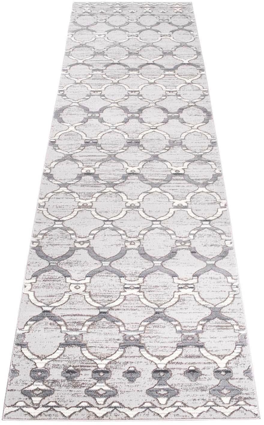 Läufer Platin 7885 Carpet City rechteckig Höhe 11 mm maschinell gewebt