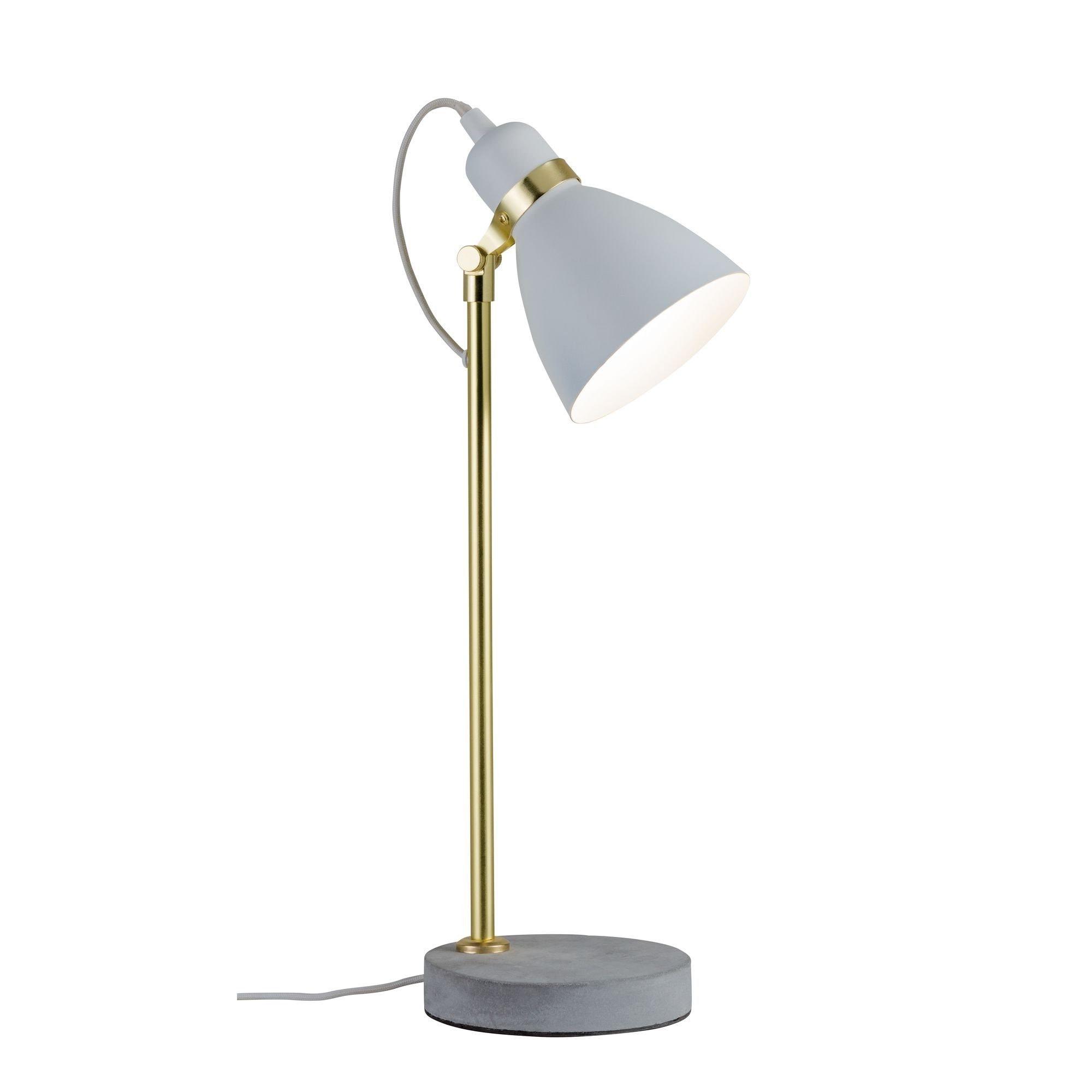 Paulmann LED Tischleuchte Neordic Orm Beton/Weiß/Gold, E27, 1 St.