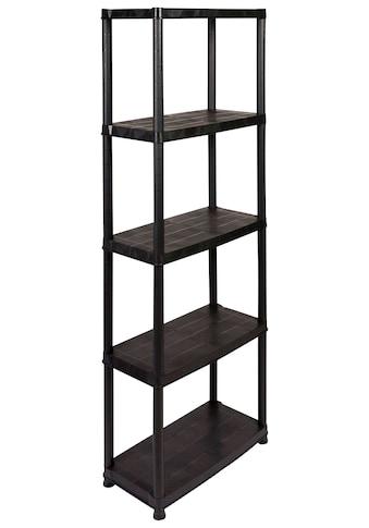 Kreher Schwerlastregal, B/T/H: 61x31x170 cm, 5 Böden, Kunststoff kaufen