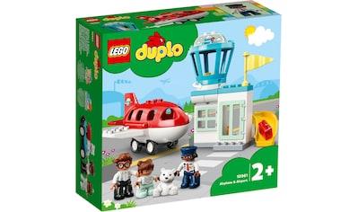 LEGO® Konstruktionsspielsteine »Flugzeug und Flughafen (10961), LEGO® DUPLO® Town«,... kaufen
