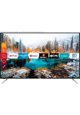 Telefunken D65V800M4CWH LED - Fernseher (164 cm / (65 Zoll), 4K Ultra HD, Smart - TV kaufen