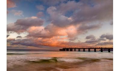 Papermoon Fototapete »Porto Santo Pier Sonnenuntergang«, Vliestapete, hochwertiger... kaufen