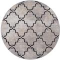 Paco Home Teppich »Artigo 411«, rund, 4 mm Höhe, Flachgewebe, In- und Outdoor geeignet, Wohnzimmer
