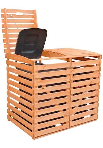 PROMADINO Mülltonnenbox , für 2x120 l aus Holz, B/T/H: 130/63/111 cm kaufen