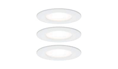 Paulmann,LED Einbaustrahler»Nova rund 3x6,5W GU10 Weiß matt starr 3 - Stufen - dimmbar«, kaufen