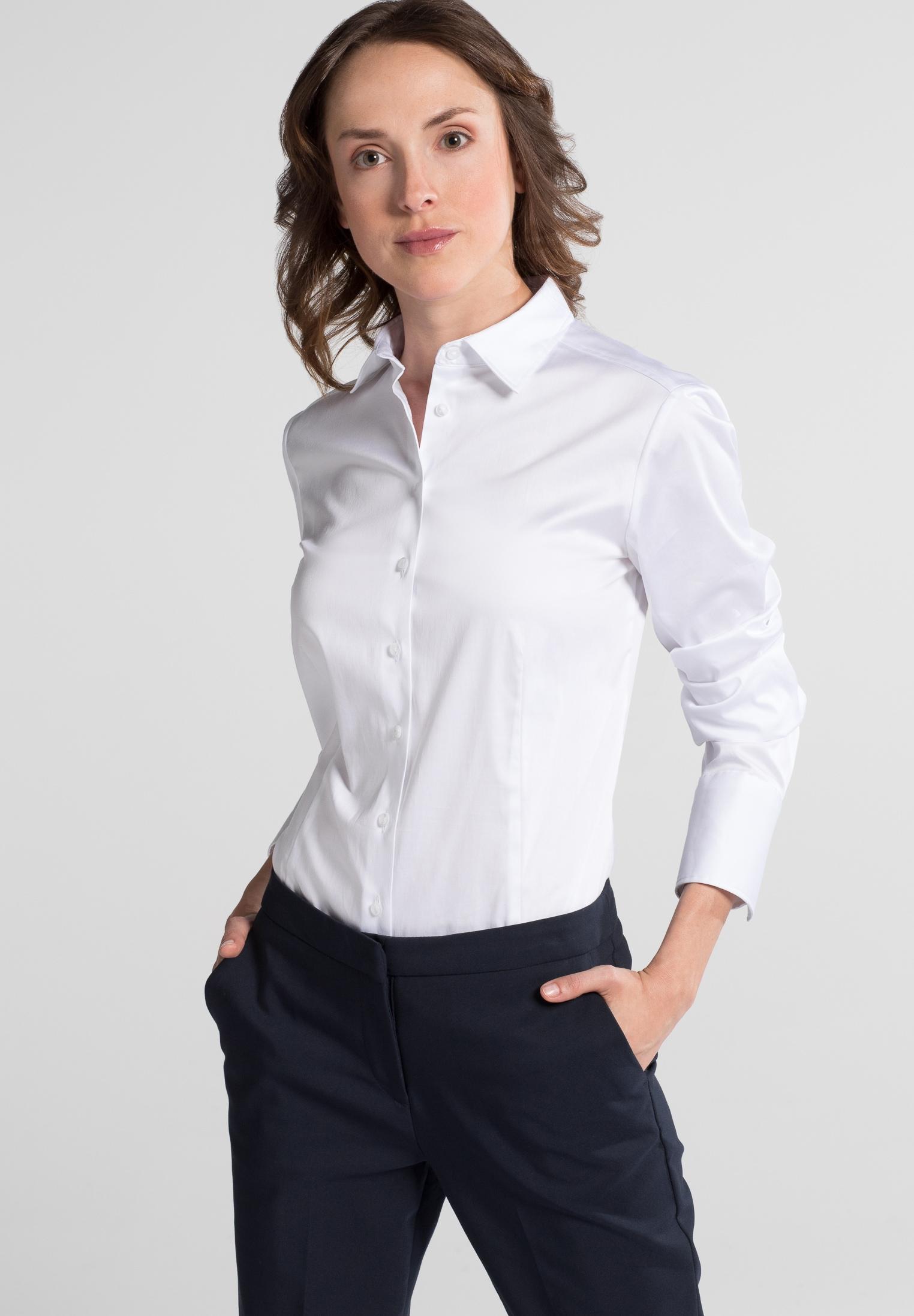 Eterna Langarm Bluse für grosse Frauen MODERN CLASSIC