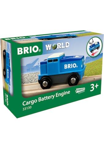 BRIO® Spielzeug-Lokomotive »BRIO® WORLD Blaue Batterie-Frachtlok«, FSC® - schützt Wald... kaufen