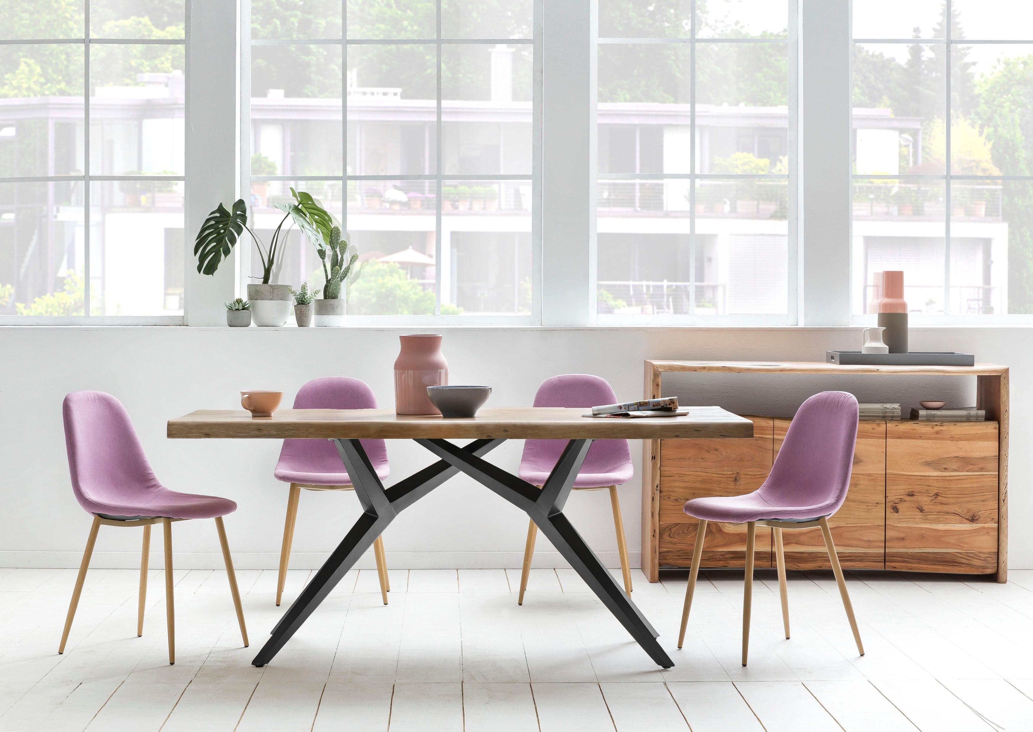 SIT Esstisch Tables, mit elegantem Metallgestell, Shabby Chic, Vintage orange Holz-Esstische Holztische Tische