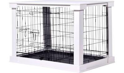 dobar Hundekäfig »Gitterbox Gr. M«, BxLxH: 55x83x59 cm, weiß kaufen