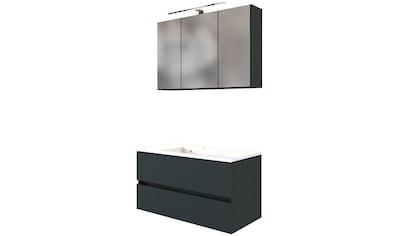 HELD MÖBEL Waschtisch-Set »Baabe«, (Set, 2 tlg.), Breite 100 cm, Softclose-Funktion kaufen