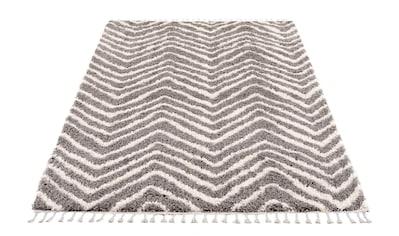 Hochflor - Teppich, »Pulpy 531«, Carpet City, rechteckig, Höhe 30 mm, maschinell gewebt kaufen