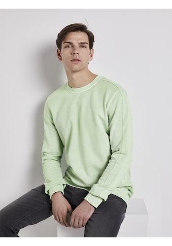 TOM TAILOR Denim Sweater »Sweatshirt mit Logo-Print« kaufen