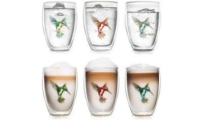 Creano Thermoglas »Hummi«, (Set, 6 tlg.), mundgeblasen, 6-teilig kaufen